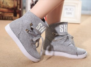 ankle boots walking shoes canvas high sneakers