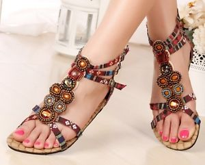 ethnic-boho-style-beaded-flat-sandals
