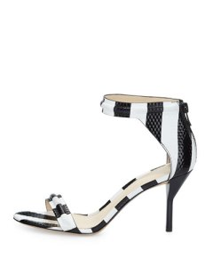 Martini Striped Mid-Heel Sandal